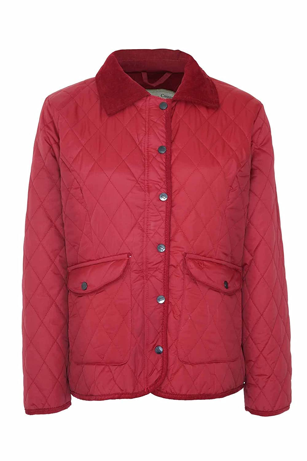 Womens Quilted Jacket Country Estate Chmpion Aylesbury Press Stud Button Fastening