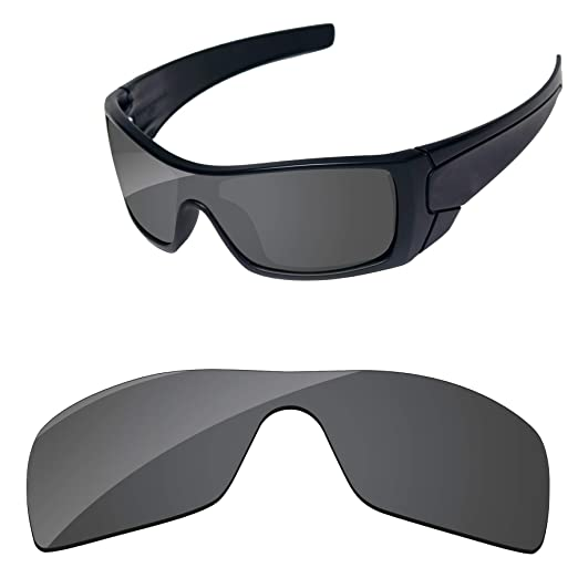 Amazon.com  PapaViva Lenses Replacement for Oakley Batwolf Black ... 4ca65981cd72