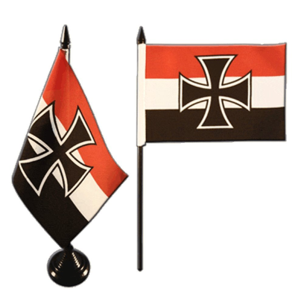 gratis Aufkleber Tischflagge Tischfahne Deutsches Reich G/ösch-Naval Jack 1871-1919 Flaggenfritze/®
