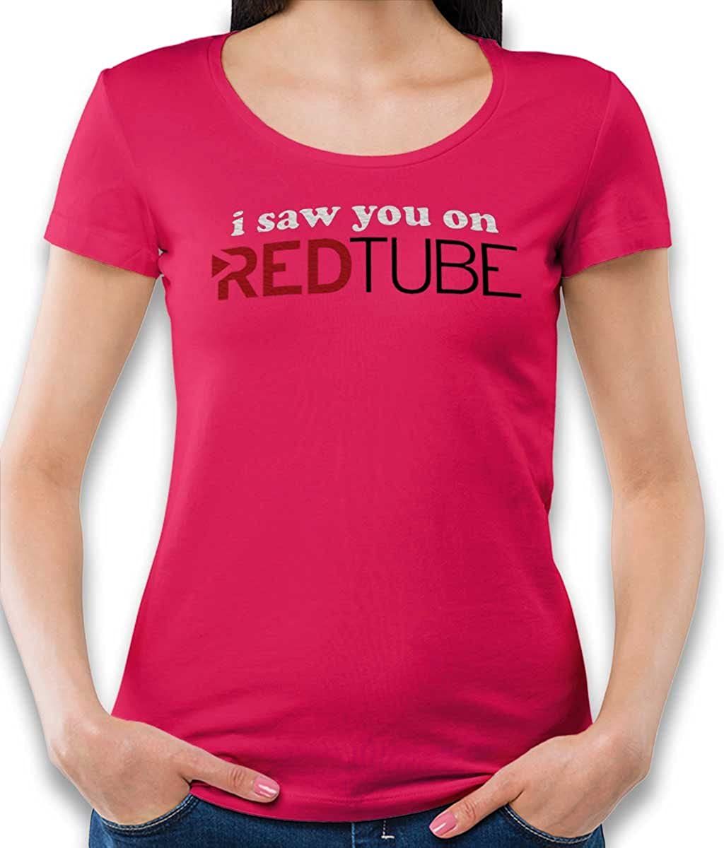 shirtminister Saw You On Red Tube Damen T-Shirt - Viele