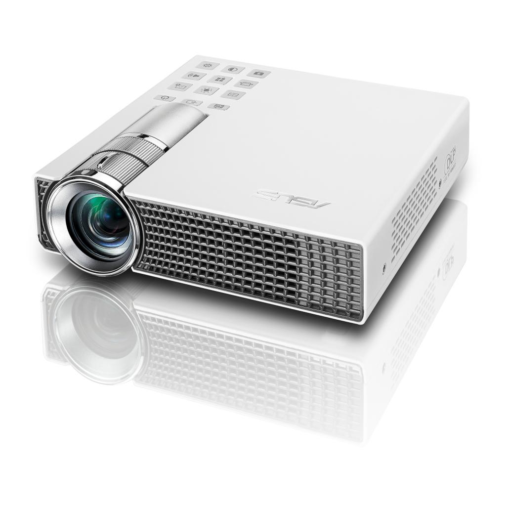 Asus p2b battery powered portable led for Portable led projector