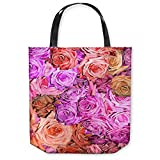 DiaNoche Designs Tote Shoulder Bags by Susie Kunzelman - Roses Pinks Salmon