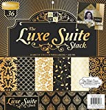 DCWV Die Cut With A View Limited Edition The Luxe Suite Stack Black Gold 36 Sheets Premium Scrapbook Paper