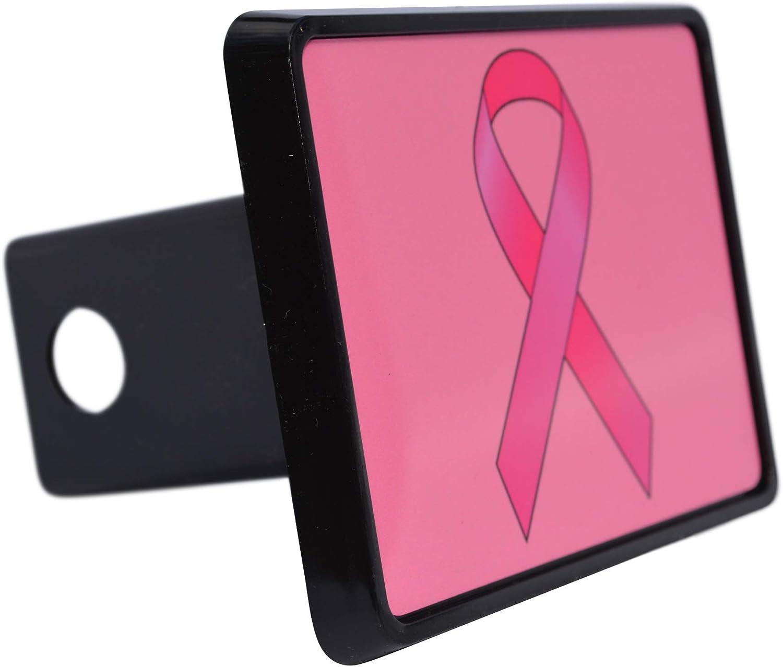 Trailer Hitch Cover CafePress Breast Cancer Ribbon Colla Truck Receiver Hitch Plug Insert