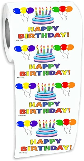 Amazon.com: Feliz cumpleaños papel higiénico papel de seda ...