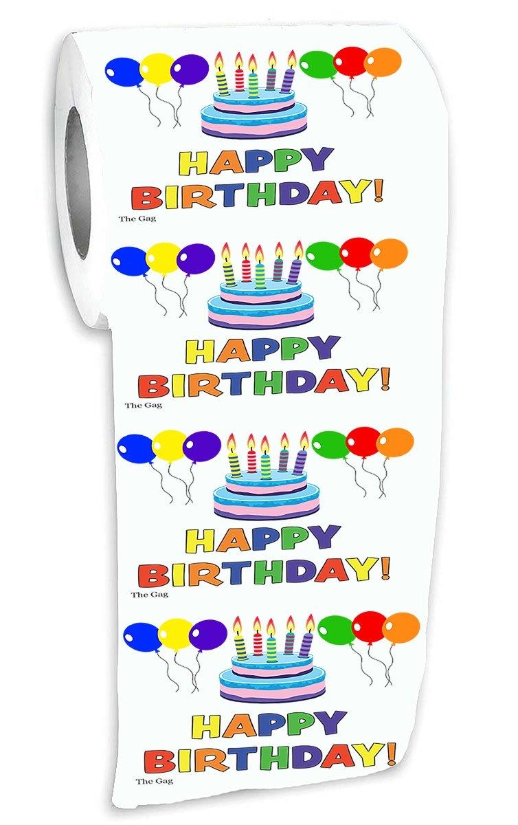 Amazon Com Happy Birthday Toilet Paper Prank Funny Gag