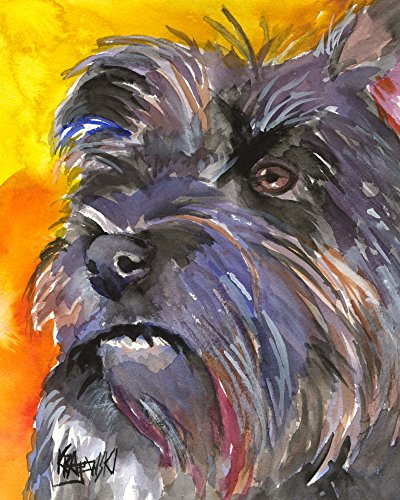 Terrier Cairn Dog Art (Cairn Terrier Dog Fine Art Print on 100% Cotton Watercolor Paper)