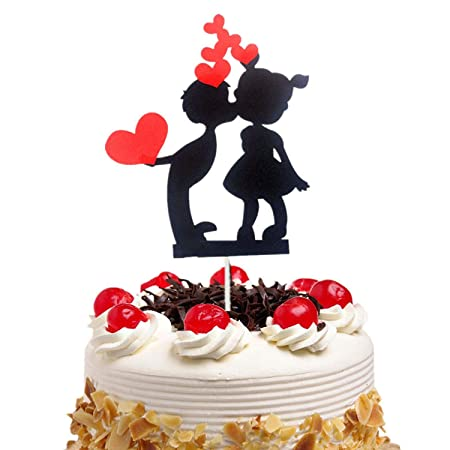 Decoración para tarta de cumpleaños con diseño de corazones ...