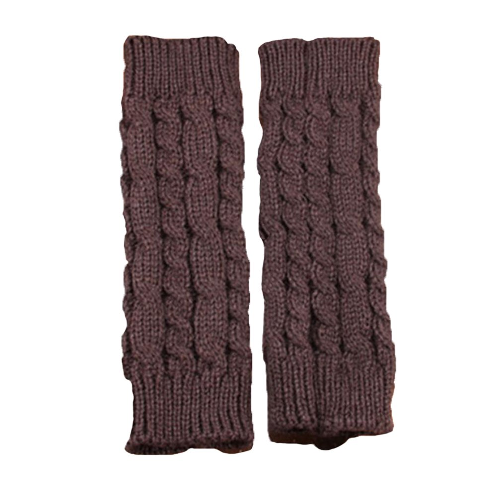 Da.Wa Winter Unisex Cable Knit Long Arm Warmer Fingerless Thumbhole Gloves Mittens