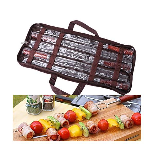 LAOSI Forchette per arrosti 5pcs con Borsa Attrezzi per Barbecue per Barbecue 2 spesavip