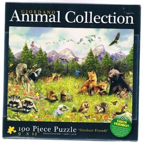 Giordano Animal Collection (Outdoor Friends) 100 Piece Puzzle by Karmin International: Amazon.es: Juguetes y juegos