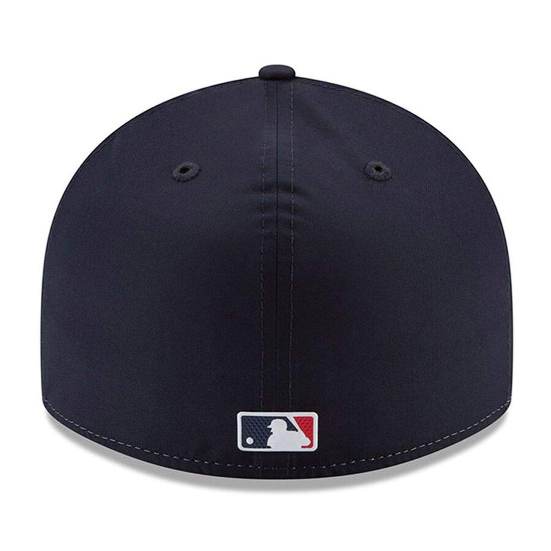 7 3//8, Blue 2018 BP Lowpro New Era Cleveland Indians Fitted Baseball Hat MLB 59Fifty Straight Brim Caps