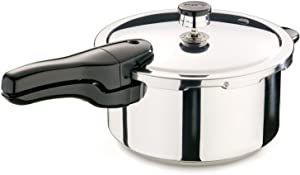 Presto Stainless Steel 01341 4-Quart Pressure Cooker, 4 QT