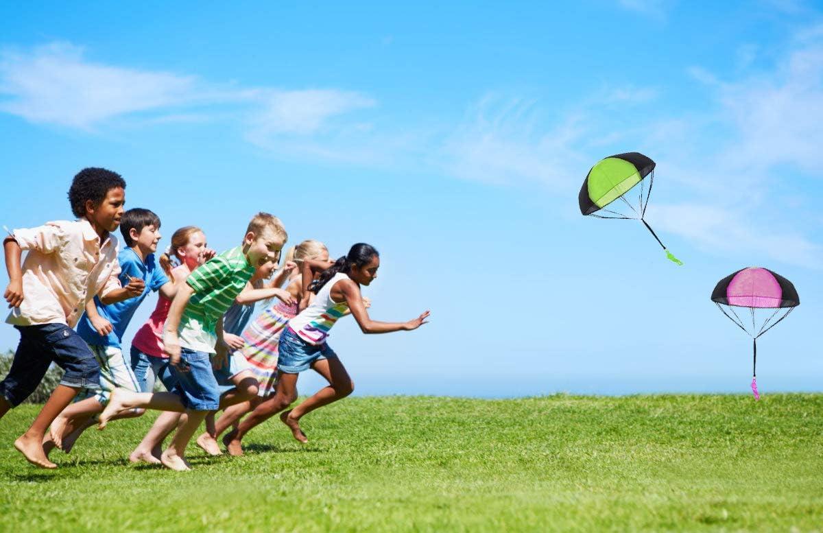 einschlie/ßlich 4 /× Kinder Hand Werfen Fallschirm Spielzeug.Sehr Gute Outdoor-Spielzeug f/ür Kinder kann ALS Geschenk an Kinder gegeben Werden! Spartas Store Hand Werfen Fallschirm Sets