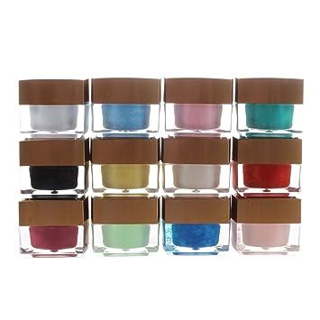 SODIAL(R) 12 Solid unas de gel UV color de las extremidades de acrilico