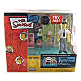 The Simpsons Series 15 Playset Nuclear Power Plant Lunchroom with Frank Grimes