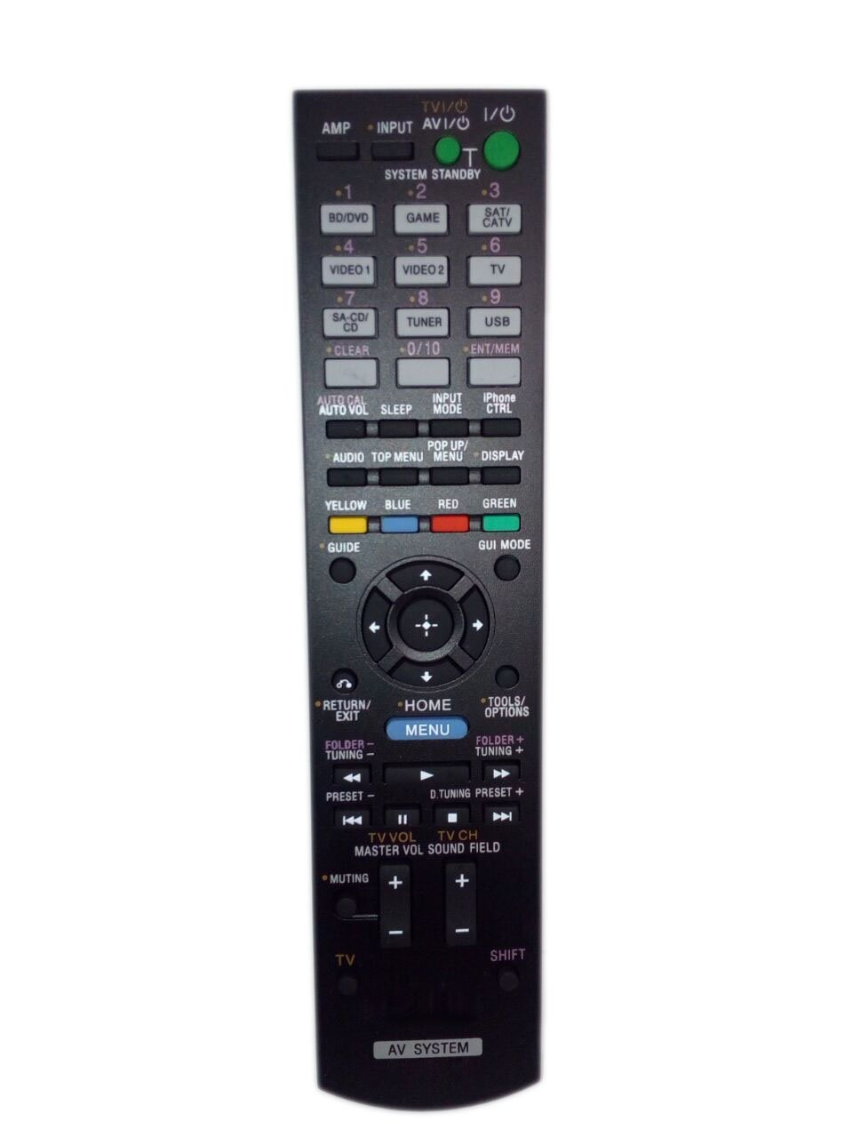 Replaced Remote Control Compatible for Sony STR-DH720 RMAAU106 148934511 RMAAU107 STR-DH830 Audio / Video AV Receiver Home Theater System by JustFine