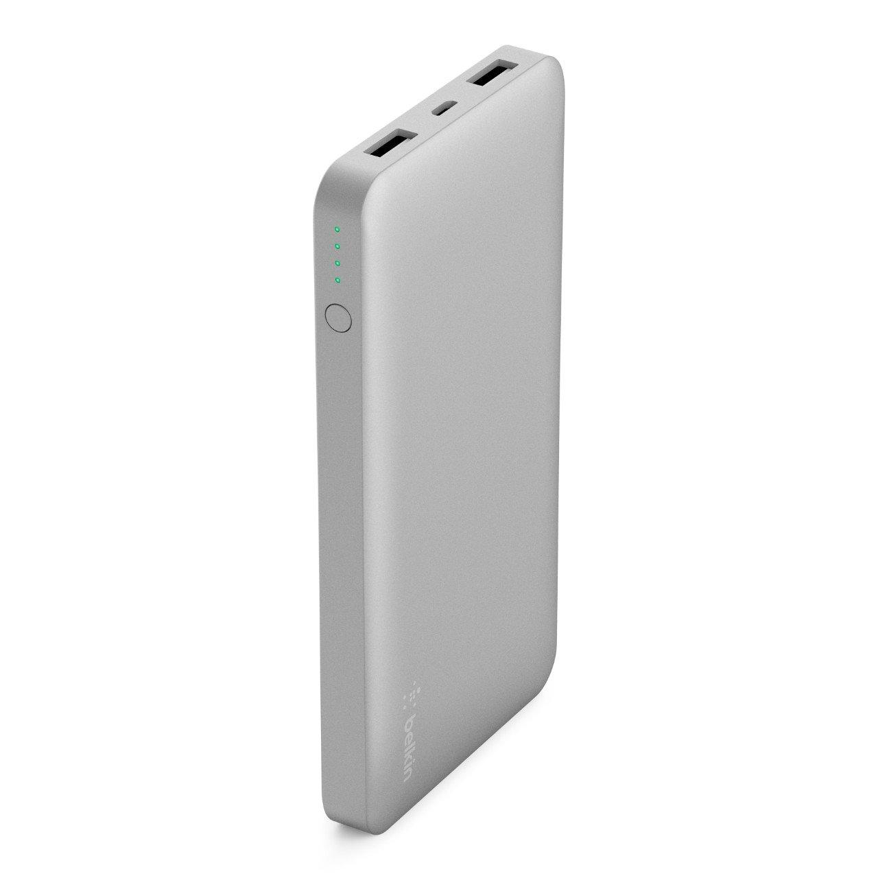 Belkin Pocket Power Bank - Batería Externa, Cargador portátil rápido (10000 mAh, certificación de Seguridad, para iPhone 11, 11 Pro/Pro MAX, XS/XS ...