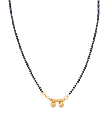 Bfc Buy For Change Maharashtrian Style Gold Plated Black Bead Chain Mangalsutra For Women