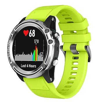 squarex - Correa de Repuesto para Reloj GPS Garmin Descent Mk1, Silicona Suave y de liberación rápida, Color Verde: Amazon.es: Deportes y aire libre