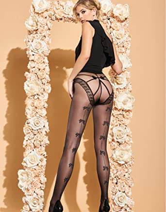 a62a38c66 Trasparenze Kiwano Back Seam Tights-Black   Silver-4  Amazon.co.uk  Clothing