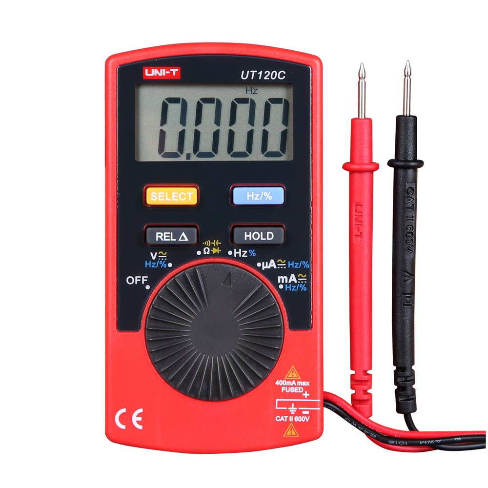 UNI-T UT120C Super Slim Pocket Handheld Digital Multimeters DC/AC Amp Tester by UNI-T