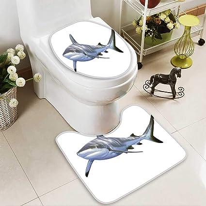 SOCOMIMI Toilettenkissenanzug mit großem Riffhai Schwimmen ...