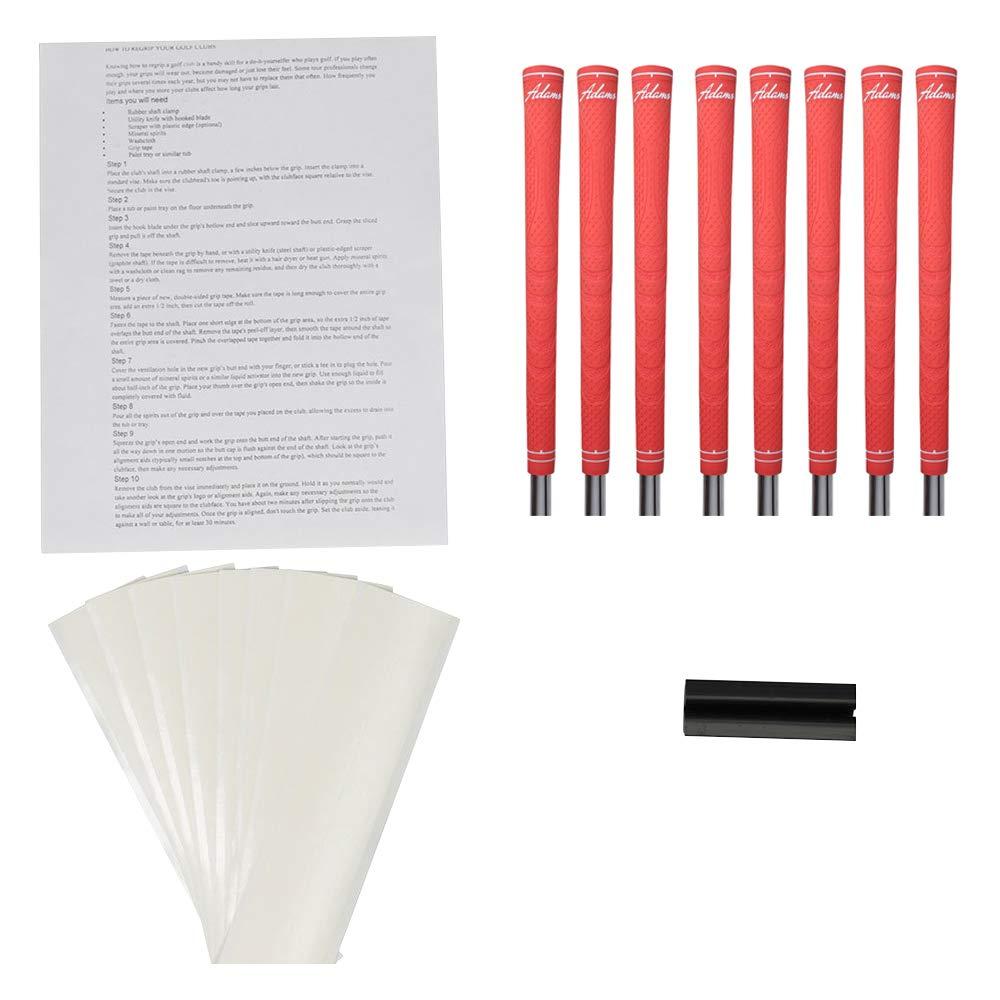 Adams ツアーシリーズ コーラルオレンジ レディースサイズ ゴルフグリップとグリップキット (グリップ8個、グリップテープ、クランプ、説明書)   B07JYKGLKJ