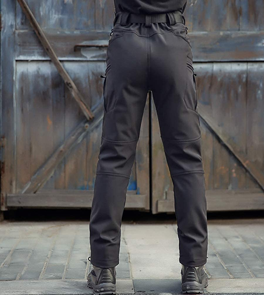 Xinwcanga Hommes Vintage Combat Pantalon Cargo Casual Travail Pantalons de Plein air Camping Randonn/ée