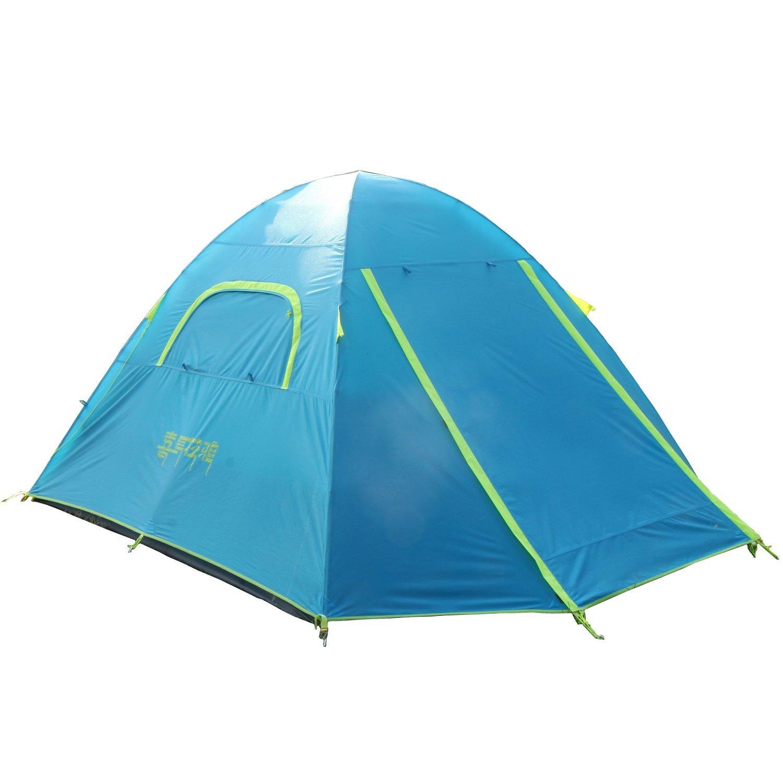 Campingzelt Kuppelzelt Familienzelt 4 Personen HT401 mit Aluminiumgestänge