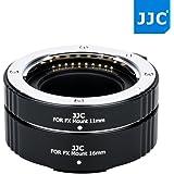 JW 11mm + 16mm Marco Automatic Extension Tubes Set for Fujifilm X Series Camera X-Pro2 X-Pro1 X-T2 X-T1 X-T20 X-T10 & Fujinon X Mount Lens XF 35mm F1.4 F2 / XF 56mm F1.2, replaces Fuji MCEX-11 MCEX-16