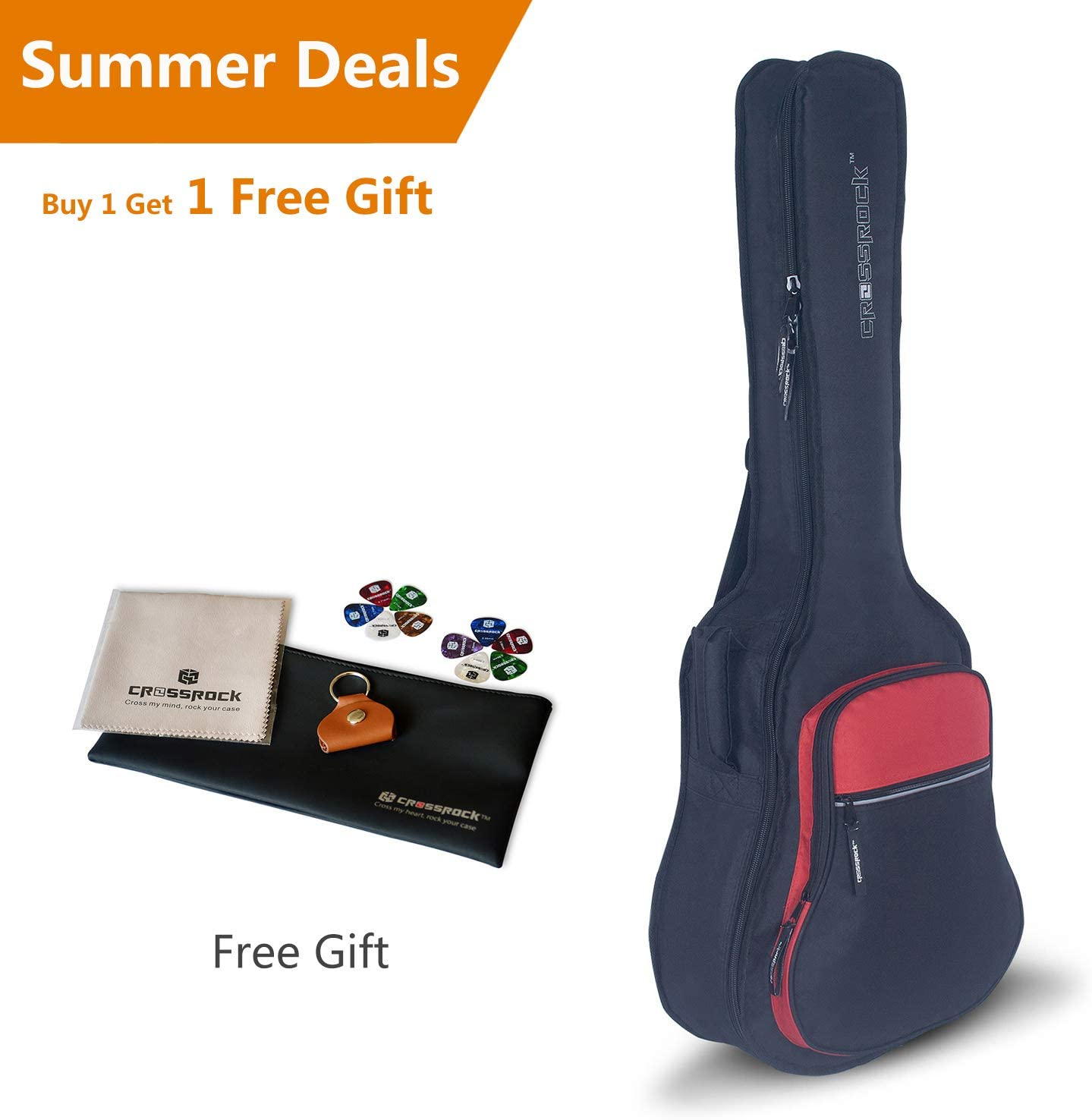 CRSG107BDG Crossrock 10mm Padded Backpack style Bass Guitar bag