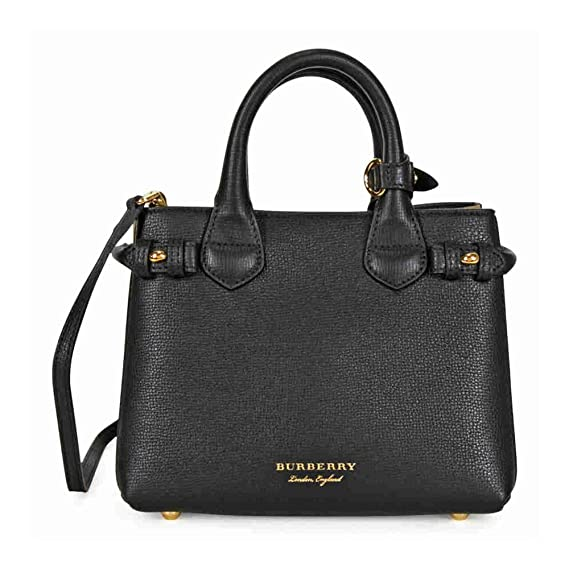 679ceb46c8b0 Burberry The Baby Banner Leather and House Check Tote - Black  Amazon.ca   Watches