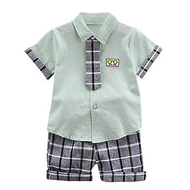 SUDADY Gentiluomo Outfits - Conjunto de Camisa de Manga Corta y ...
