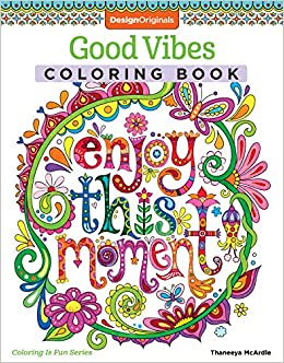 amazoncom good vibes coloring book coloring is fun design originals 30 beginner friendly relaxing creative art activities on high quality - Coloring Books