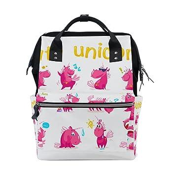 JSTEL - Bolsas de viaje para ordenador portátil, diseño de unicornios de dibujos animados y emoji: Amazon.es: Electrónica