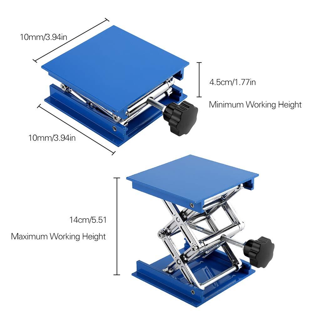 KKmoon Plataforma elevadora ajustable de /óxido de aluminio Mesa elevadora Soporte elevador para laboratorio