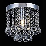 Chandelier Crystal Lighting,Modern Flush Mount Ceiling Light,Rain Drop Pendant Ceiling Lamp for Hallway Suitable for Dining Room,Banquet Hall H7.3 X W7.9 For Sale