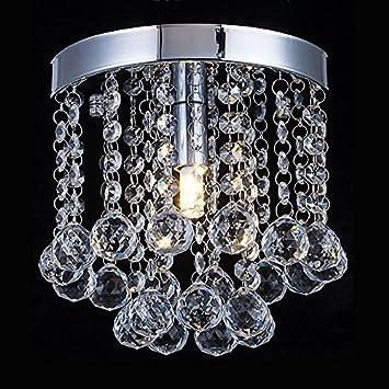 Amazon Com Chandelier Crystal Lighting Modern Flush Mount Ceiling