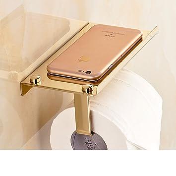 MOMO Titular de Papel higiénico de Acero Inoxidable/Poner el teléfono Antiguo Rollo de Toallas de Papel/bastidores de baño/Bandeja de baño-B: Amazon.es: ...