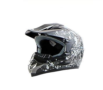 QXMEI Casco De Carreras Fuera De Carretera De Casco De Moto Gafas,2-M
