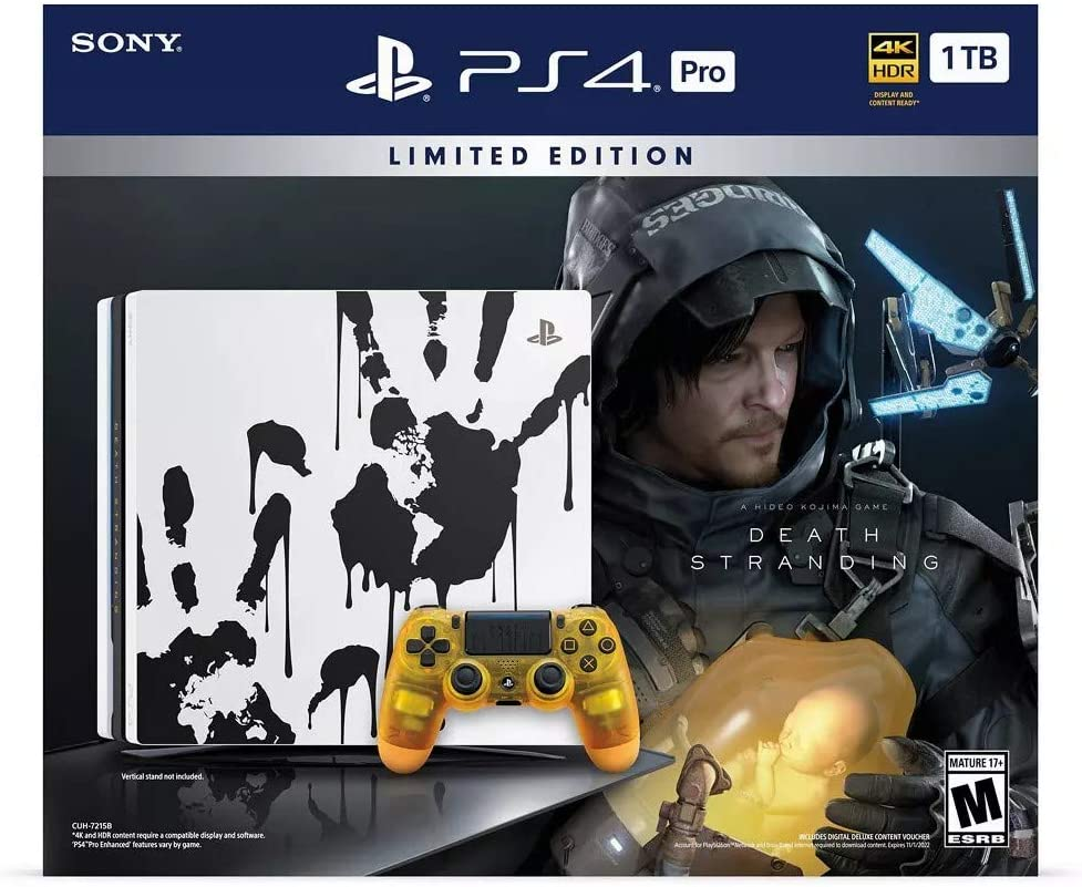 Sony PlayStation 4 Pro Storage Upgrade 1TB SSD Edición Limitada Death Stranding Consola + Controlador + Juego Bundle: Amazon.es: Electrónica