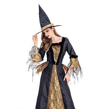 WARRT Disfraz de halloween Vestido De Bruja Con Sombrero ...