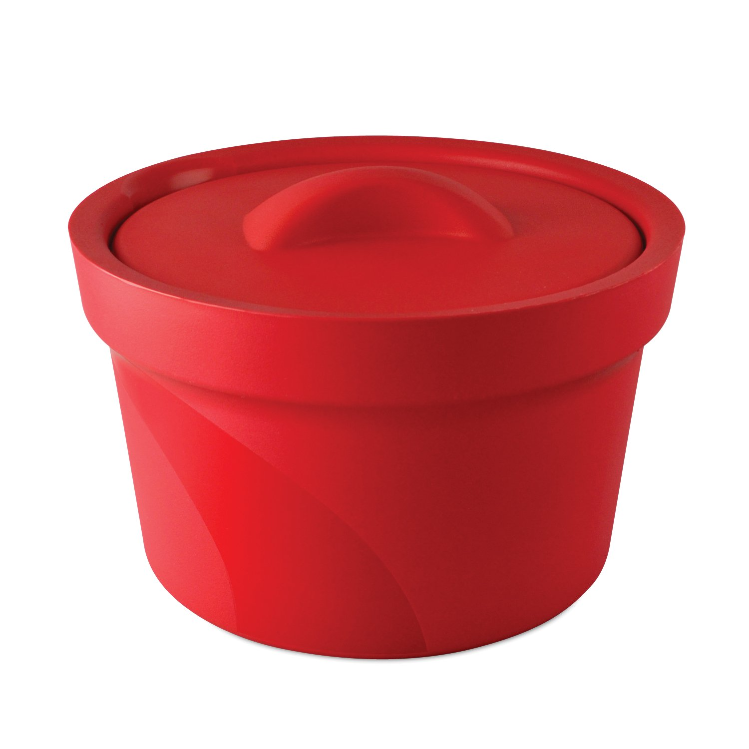 Bel-Art Magic Touch 2 High Performance Red Ice Bucket; 2.5 Liter, With Lid (M16807-2003)