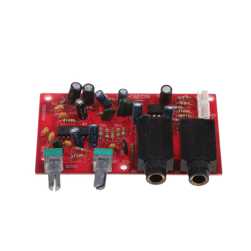 Baoblaze 1 Pieza de Mó dulo para Amplificador de OK239 DC 12V Karaoke Micró fono Partes de Audio Esté reo - Rojo