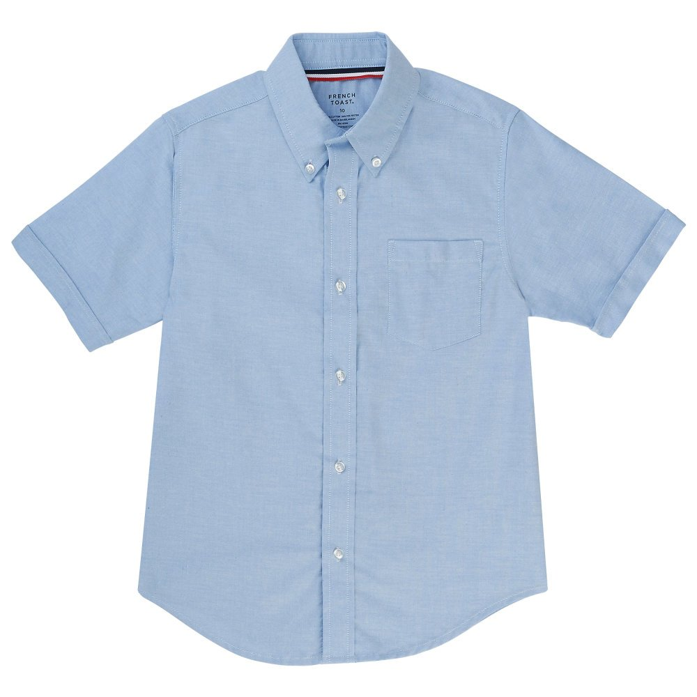 French Toast Big Boys' Short Sleeve Oxford Dress Shirt SE9003