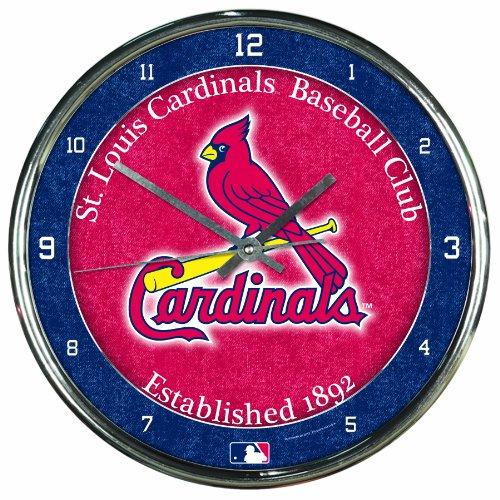 - MLB St. Louis Cardinals Chrome Clock, 12