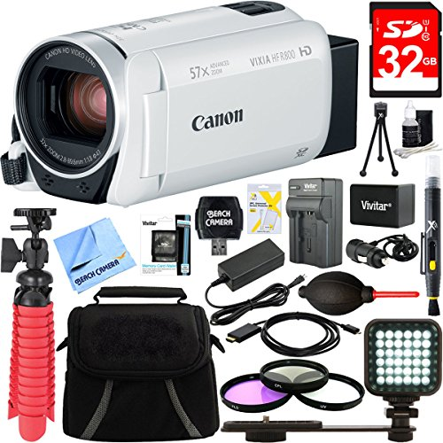 Canon VIXIA HF R800 Full HD White Camcorder + 32GB Card and