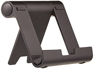 AmazonBasics Multi-Angle Portable Stand for Tablets, E-readers and Phones - Black