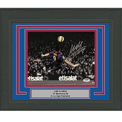 Framed Autographed Signed Luis Suarez FC Barcelona 8x10 Soccer Photo  PSA DNA COA   b843d2289